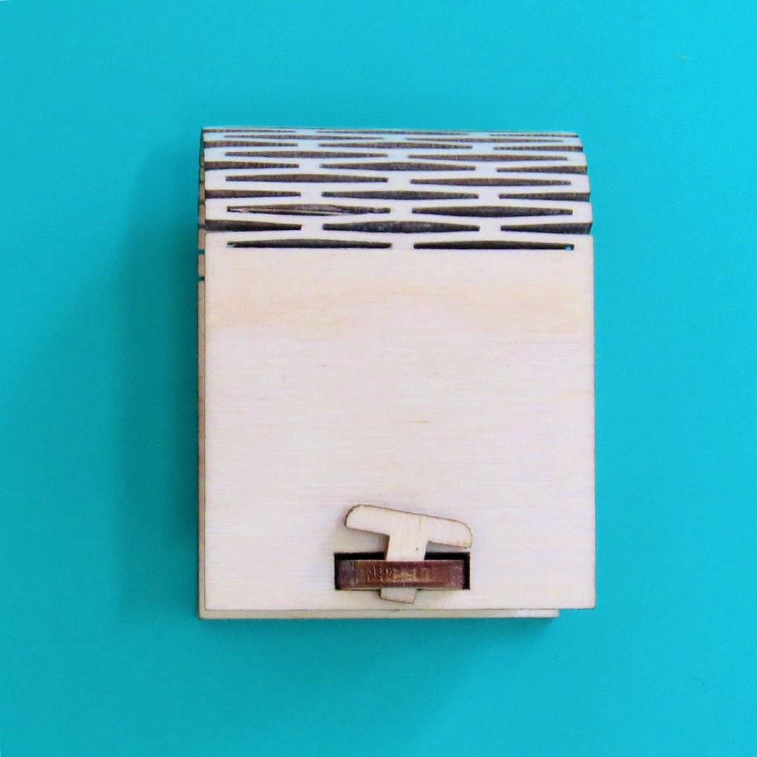 Коробочка для колец с замочком
