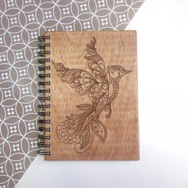 Блокнот деревянный с гравировкой, А5
